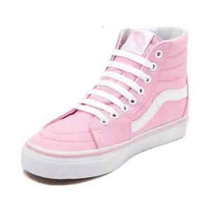 7aec28094cf New Vans Sk8 Hi Skate Prism Pink White Shoes Womens Sizes High Top ...