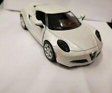 METALLIC GREY Kinsmart 1//32 2013 Alfa Romeo 4C Sports Car w// Pullback Motor