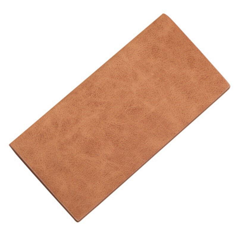 Long PU Leather Men's Wallet Card Money Holder Clamps Purse Cash Folder Billfold