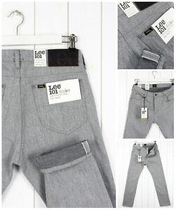 Lee-101-Rider-11-OZ-ca-311-84-g-Jeans-Denim-Selvage-in-Tessuto-a-Sigaretta-Slim-Fit-Luke-tutte-le