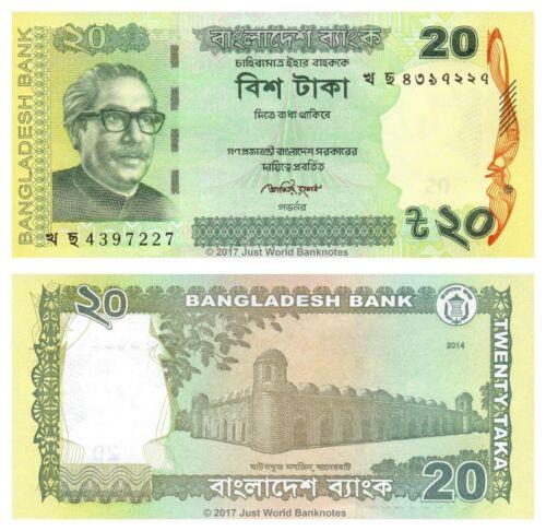 Bangladesh 20 Taka 2014 P-55Ac Banknotes UNC