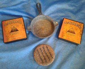 Vintage Cigarette Lot Skillet Ashtray or Toy & Camel Twist Tins Lot of 4 Items