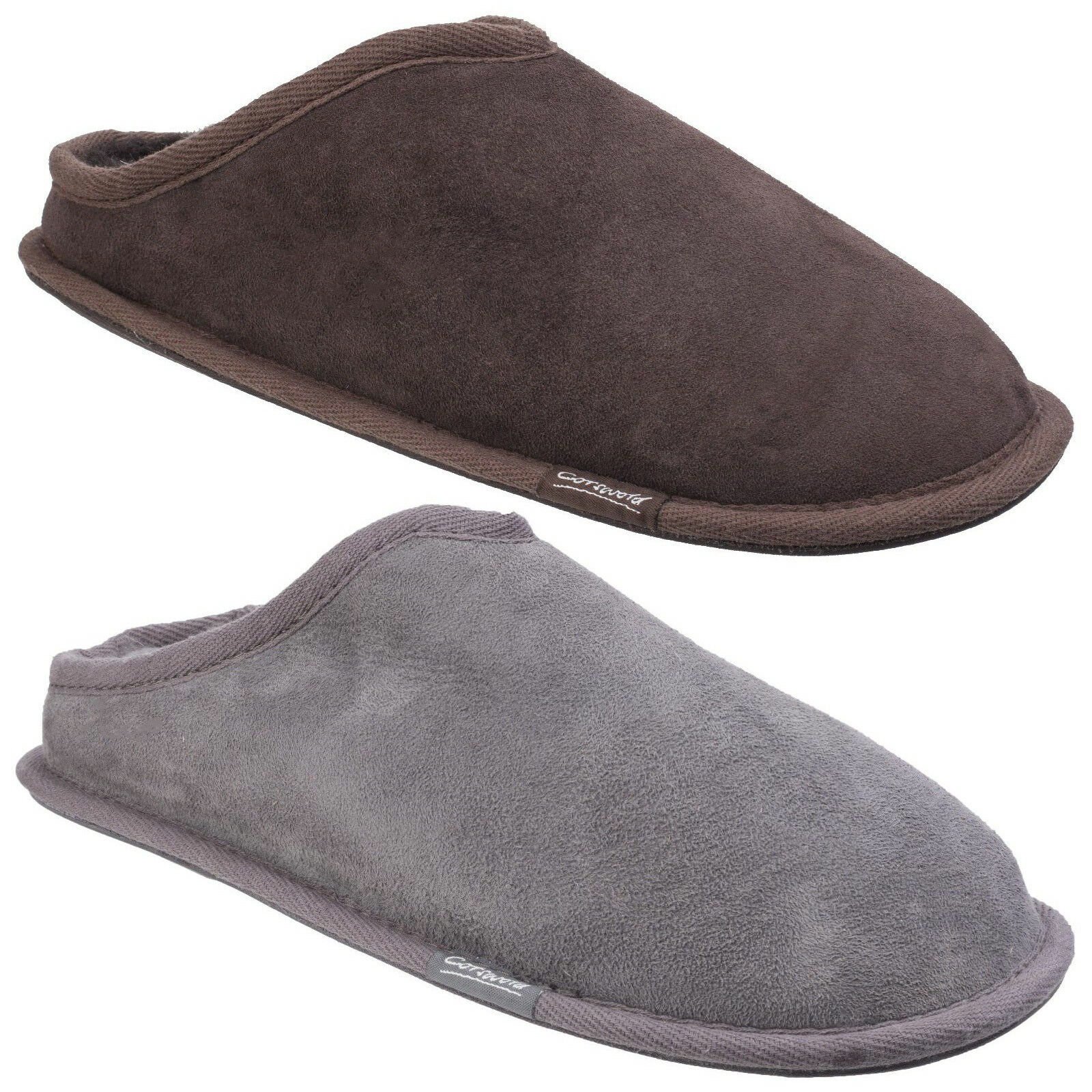 Cotswold Hidcote Sheepskin Mule Mens Leather Slip On Comfort Slippers