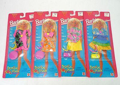 Vintage 1995 Barbie Tropical Splash Fashions Pack Set Lot of 4 Beach Outfit NRFP