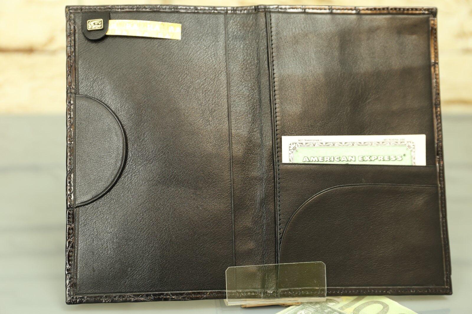 Brieftasche KRALLE - Echtes Krokodil Leder  IRV NEU NEU NEU  Wallet crocodile NEW  n830    | Erste Qualität  8b9b1c