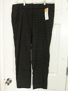 Charter-Club-Women-039-s-Black-Checked-Classic-Fit-Slim-Leg-Ankle-Pants-Size-8-NWT
