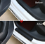 4x-Carbon-Fibre-3D-Car-Door-Sill-Scuff-Protector-Plate-Sticker-Cover-Tool-UK thumbnail 5