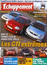 Echappement n°414-2002-LOEB-AUDI S3-RENAULT CLIO V6-HONDA CIVIC R-206 S16-VW GTI