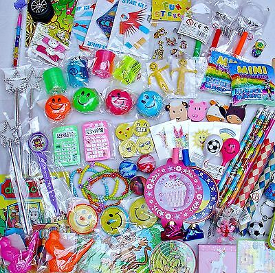 60 GIRLS BOYS TOYS + 60 temp TATTOOS Party Bags Fillers Pinata Teachers Rewards
