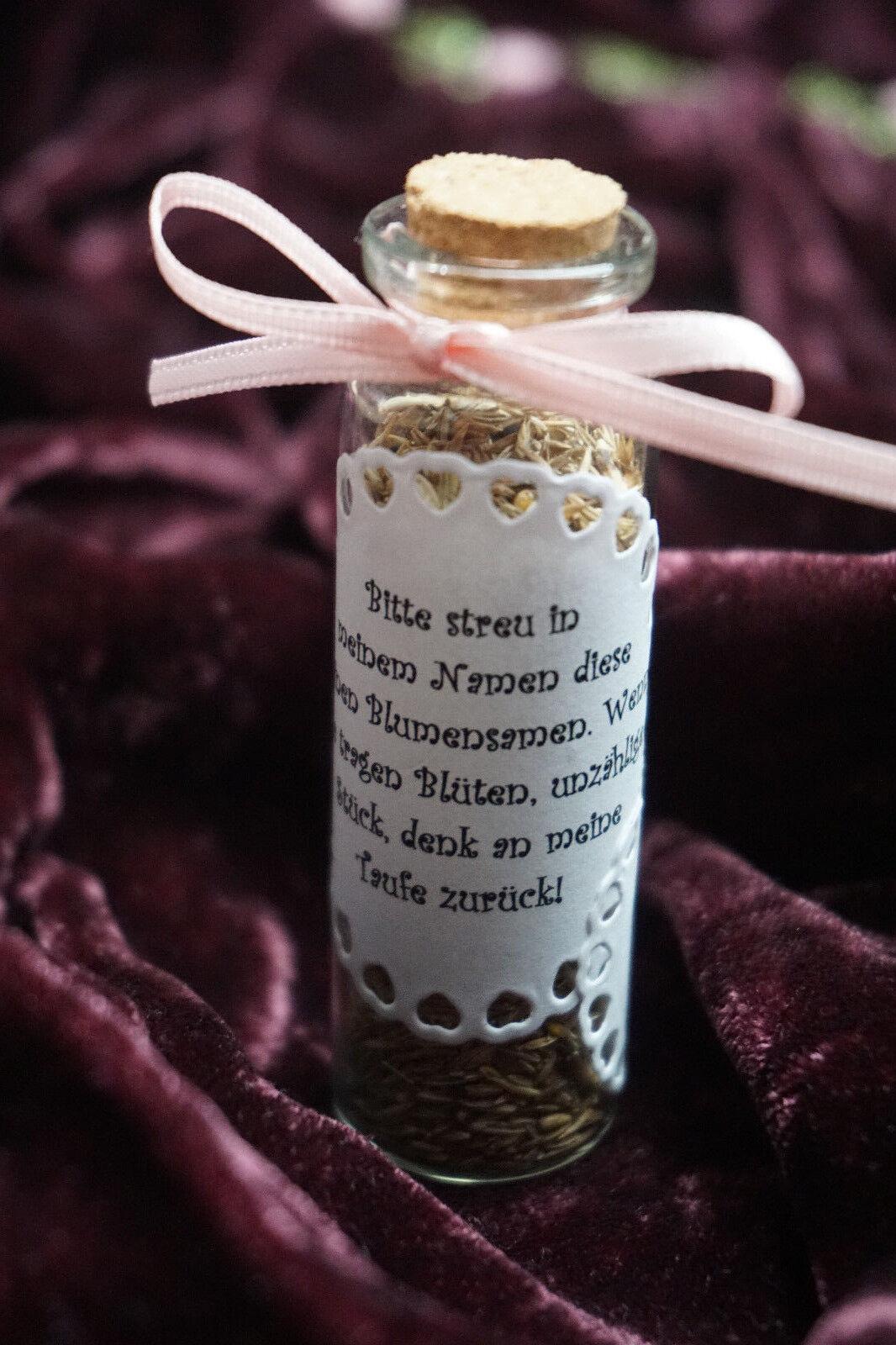 Gastgeschenk Glas Mit Blumensamen Samen Reagenzglas Taufe