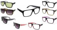 Black Rectangular Flat TOP Frame Retro Geek Clear Lens Nerd Glasses Thick 80's