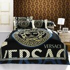 Versace Medusa Luxurious Super Queen 4pcs Egyptian Cotton bedding Set