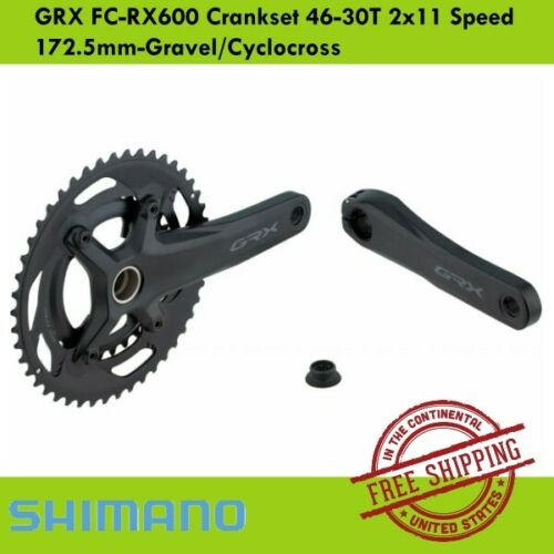 Shimano GRX FC-RX600 Crankset 46-30T 2x11 speed  172.5mm-Gravel//Cyclocross