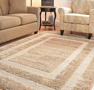 beige shag area tan rug rugs 4 39 x 6 39 8 39 10 39 9 39 12 39 10 39 13 39 8 10 4 6 5 8 7 11 15 ebay. Black Bedroom Furniture Sets. Home Design Ideas