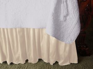 NEW-SOFT-SURROUNDINGS-PROVENCAL-SILK-BEDSKIRT-IVORY-TWIN