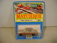 MATCHBOX LESNEY CANADIAN CITY BLISTER CARD #25 FORD CORTINA NEW