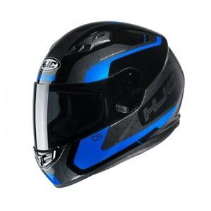 NEW-HJC-Helm-CS-15-Dosta-schwarz-blau-grau-Gr-M-57-58-Motorradhelm-MC2-NEU