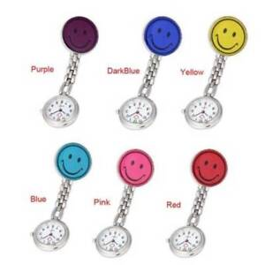 Fashion-Nurse-Clip-on-Fob-Brooch-Pendant-Hanging-Smile-Face-Watch-Pocket-Watch