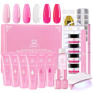 Makartt-Poly-Nail-Extension-Gel-Kit-Pink-Nail-Enhancement-Builder-Gel-with-Slip
