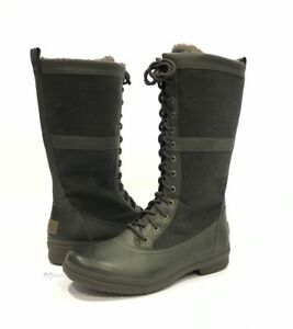 ce342741a66 Details about UGG ELVIA WATERPROOF TALL BOOTS SLATE LEATHER LACE UP -US  SIZE 9.5 -NEW