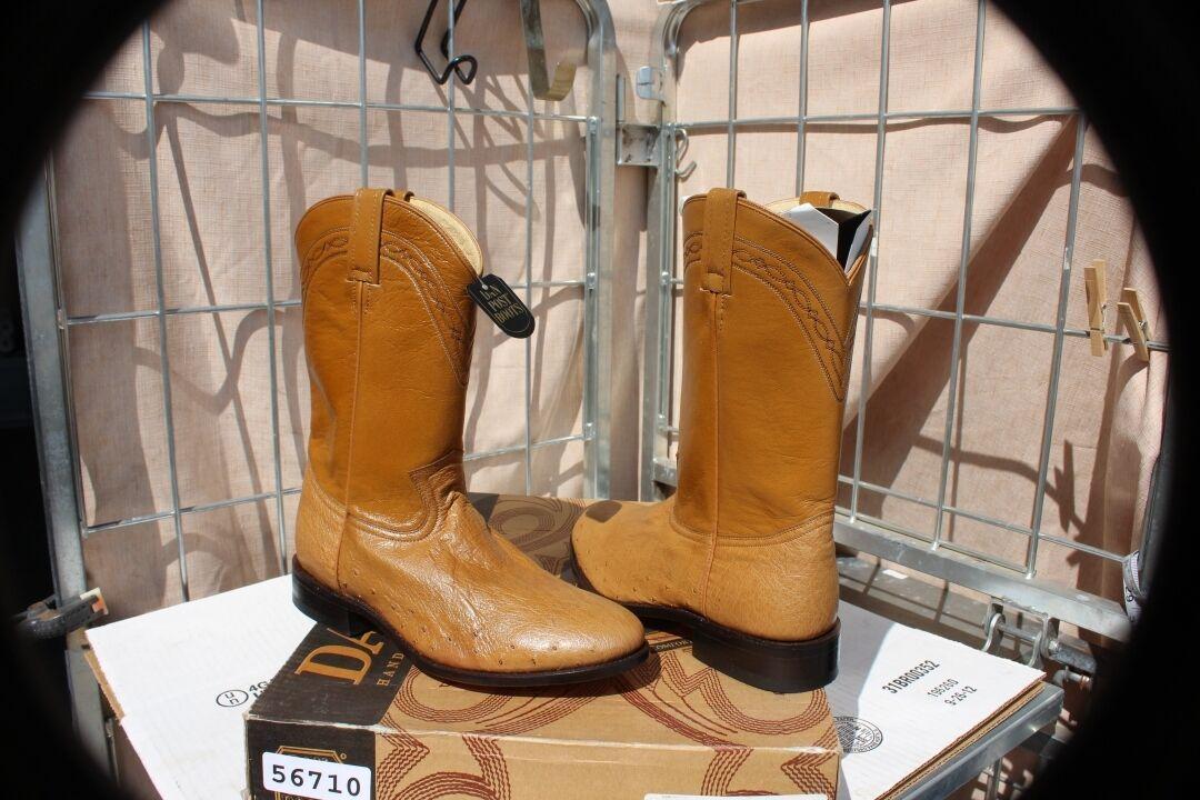 27-37 New Dan Post genuine Ostrich mens 8 xtra wide roper boots