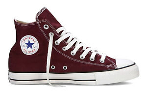 eb76c9f2e90f Converse Chuck Taylor All Star Hi Tops Burgundy Mens Sneakers Tennis ...