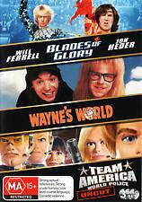 BLADES-OF-GLORY-WAYNE-039-S-WORLD-TEAM-AMERICA-BRAND-NEW-amp-SEALED-3-DISC-DVD