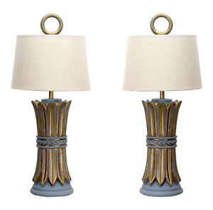 Pair-Mid-Century-Hollywood-Regency-Table-Lamps-Wheat-Lamps-Pair-of-Lamps