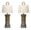 Pair-Mid-Century-Hollywood-Regency-Table-Lamps-Wheat-Lamps-Pair-of-Lamps thumbnail 1