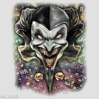 Wicked Jester Heat Press Transfer For T Shirt Tote Sweatshirt Quilt Fabric 676o