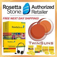 Rosetta Stone® Russian 1 2 & 3 Full Homeschool Set +audio Companion +headset