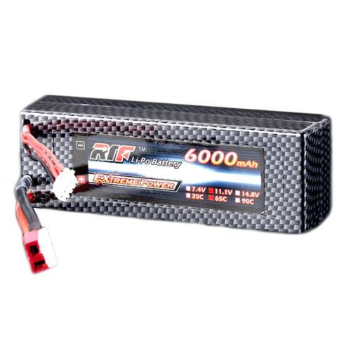 Giant Power 11.1V 6000mAh 3S 65C Lipo Battery T Plug Hard Case Pack
