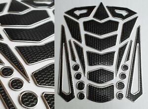 Tankpad-Tankschutz-Motorrad-Carbon-Optik-universell-Tankschutz-Silber-Schwarz