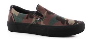 876e751343 Vans Slip On Pro Camo Black Men s Classic Skate Shoes Size 11.5