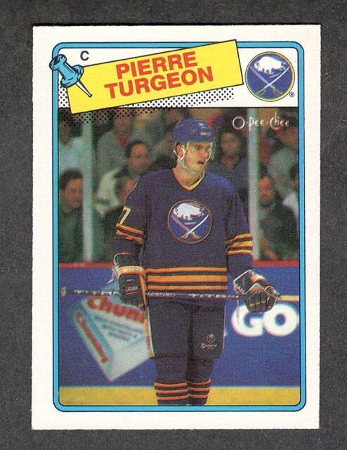 1988-89 PIERRE TURGEON #194 ROOKIE OPC NM-MT 8 ** Sabres Star RC NHL Hockey Card