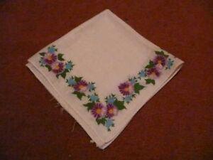 24 ) 1 Sehr Schöne Damen Stofftaschentuch Taschentuch Mit Blumenmuster