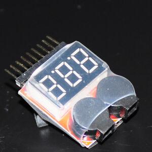 1-8S-Lipo-Battery-Speaker-DIY-Kit-Display-Red-Alert-2-in-1-Indicator-Monitor