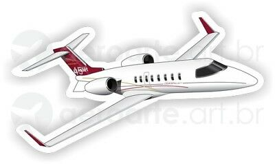 Bombardier Learjet 45 aircraft round sticker