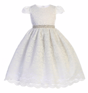 Exquisite-White-Lace-Flower-Girl-Party-Pageant-Dress-Crayon-Kids-USA