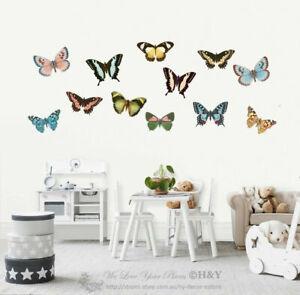 Butterflies-Wall-Stickers-Kids-Nursery-Decor-Removable-Vinyl-Decal-Mural-Gift