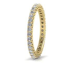 0-75CT-Round-Brilliant-Cut-Diamond-Eternity-Wedding-Ring-in-18K-Yellow-Gold
