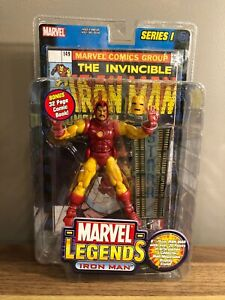 "New 2002 ToyBiz Marvel Legends 6"" Iron Man Action Figure Sealed Series 1"
