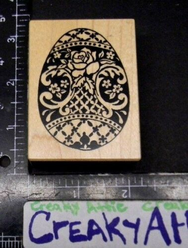 PSX DECORATED EGG FLOWERS RUBBER STAMP RETIRED ROSE F1203
