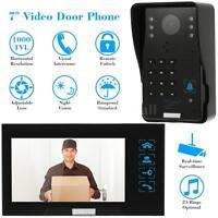 Wired Video Door Phone Intercom Doorbell Home Security 1x Camera +1x Monitor P2p on Sale