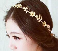 Fashion Golden Leaf Flower Head Chain Jewelry Headband Head Piece Hair band AH