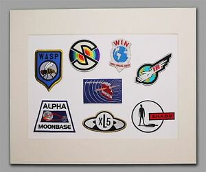 GERRY-ANDERSON-Display-Set-8-Patches-Thunderbirds-Stingray-UFO-TV21-amp-More