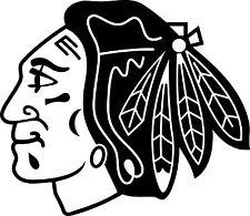 CHICAGO BLACKHAWKS Logo ~ Window WALL DECAL * Vinyl Car STICKER ~ ANY COLORS