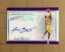 2015-16 National Treasures KOBE BRYANT Autograph Signature Moves (14/25) Lakers