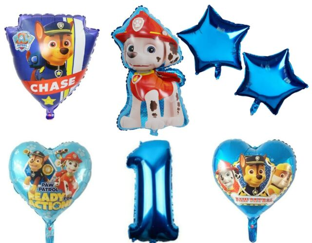 3x R19F10 Paw Patrol Geburtstag Rubble Skye Rocky Chase Hund Helium Folienballon