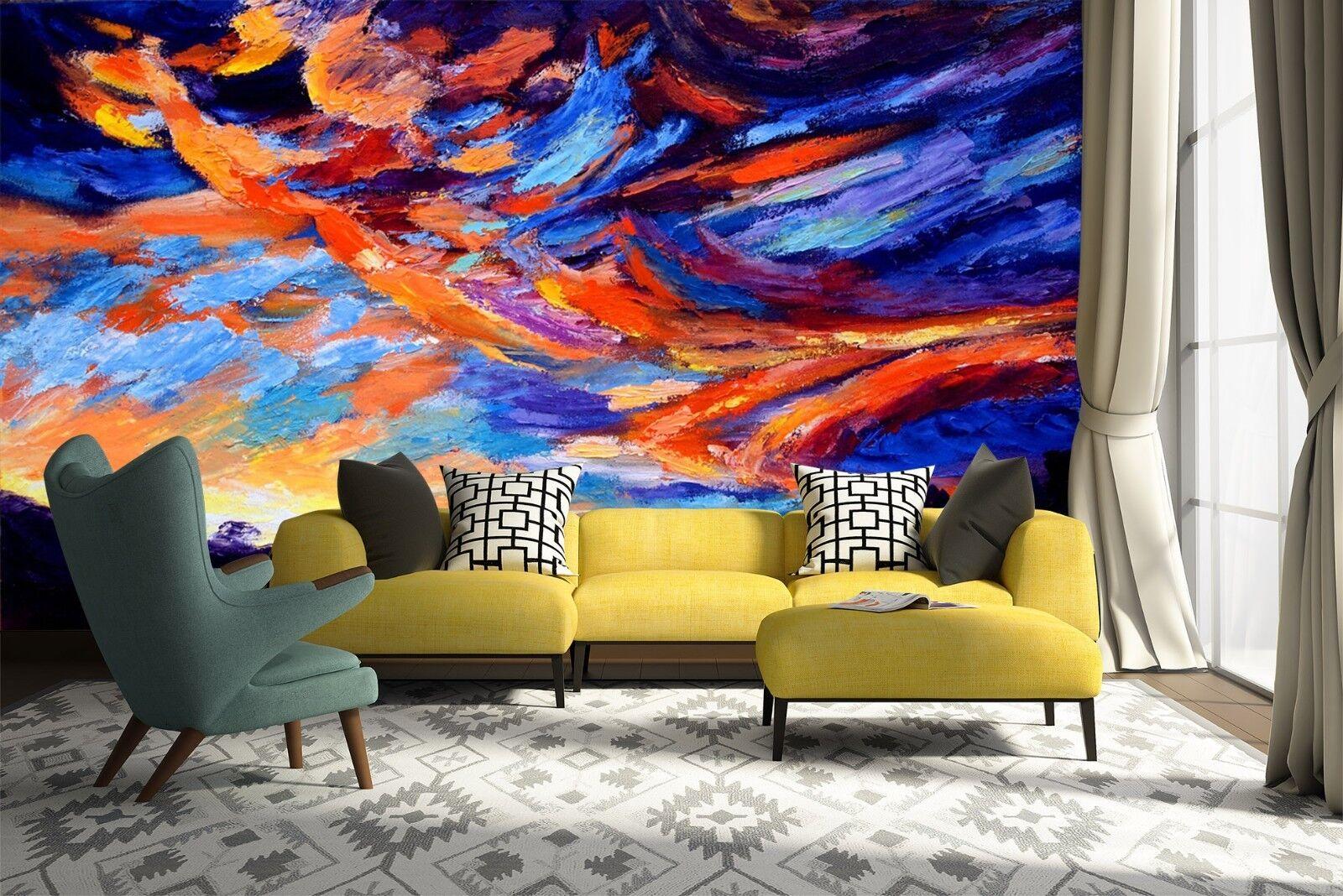 3D Ölgemälde Himmel 57 Tapete Tapeten Mauer Foto Familie Tapete Wandgemälde DE